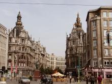 Антверпен портовая столица Бельгии. Через его торт Бельгию пребывает множество туристов