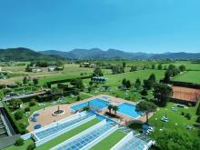 Вид на некоторые бассейны Итальянского курорта курорт Абано Терме