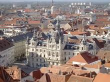 Крыши города Грац в Австрии