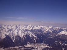 Так выглядит Австрийский горнолыжный курорт Инсбрук с высоты