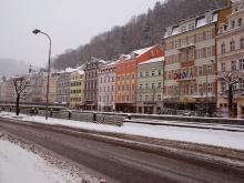 Чешский курорт Карловы Вары зимой