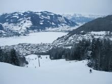 Лыжная трасса на горнолыжном курорте Цель ам Зее