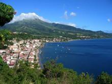 Вид на остров- курорт Мартинику