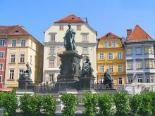 Красивый памятник в Граце, Австрия
