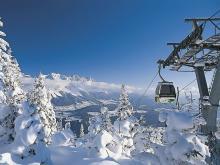 Панорама гор в районе австрийского горнолыжного курорта Шладминг