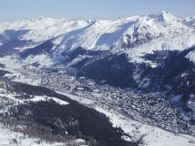 Панорама Швейцарского горнолыжного курорта Давос