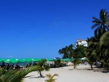 Пляж на берегу Карибского моря Доминиканского курорта Хуан Долио