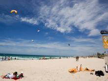 Песчаный пляж в Дахабе
