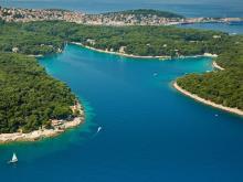 Острова в Хорватии иногда имеют очень причудливые очертания