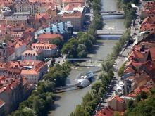 Река Мур в городе Грац, Австрия