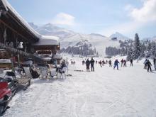 Идеальное состояние трасс на шикарном горнолыжном курорте Куршавель