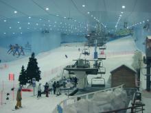 Где еще, как не в Дубаи, можно прокатиться на лыжах по искусственному снегу несмотря на жару