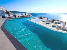 Замечательный вид на море из отеля высокого уровня в Греции